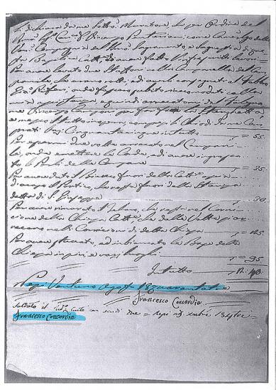 Documento del 1843