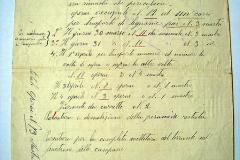 Documento firmato da Concordia Carlo riguardante la descrizione e il compenso dei lavori eseguiti dopo il crollo del Campanile.