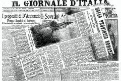 Articolo del 1922 de IL GIORNALE D'ITALIA: Un fulmine abbatta il campanile del Duomo di Nepi