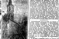 Articolo storico del fulmine che colpito il Campanile